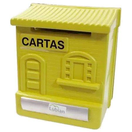 Caixa de Correios Amarela Colonial 24x20cm c/ trava Lubian