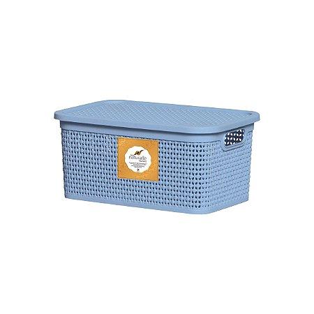 Caixa Organizadora Rattan 4 Litros Azul Claro Rischioto 1112