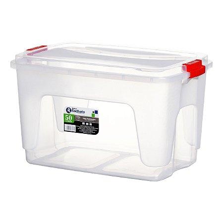 Caixa Organizadora 50 Litros Transparente Rischioto 0117