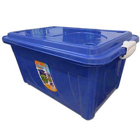 Caixa Organizadora 60 Litros Multiuso Azul Agraplast