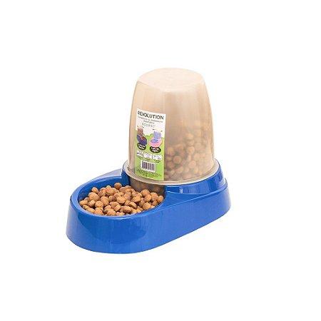 Comedouro E Bebedouro Automático 1,8l Cachorro Gato Azul