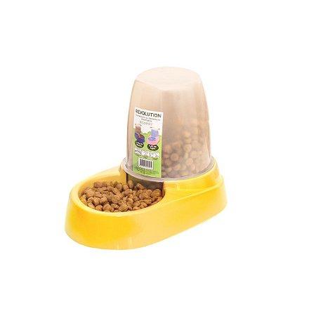 Comedouro E Bebedouro Automático 1,8l Cachorro Gato Amarelo