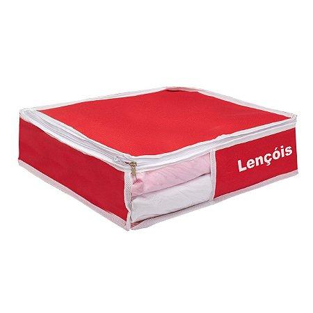Organizador de Lençóis Em Nylon Vermelho 924 VB HOME