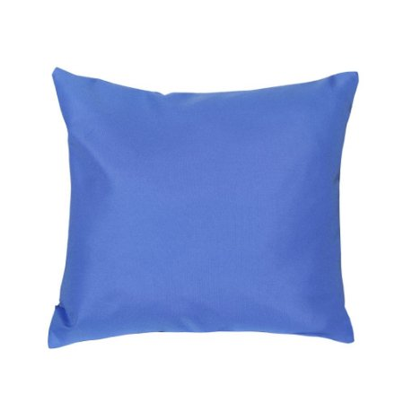 Almofada Decorativa P/ Sofá Lisa Azul