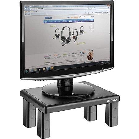 Suporte Monitor Apoio Desktop Quadrado 4 Níveis de Altura Multilaser