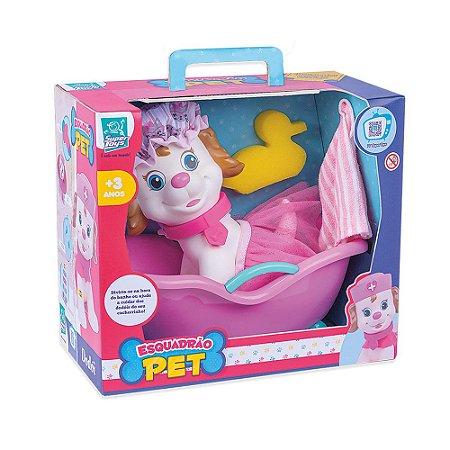 Boneco Esquadrão Pet Hora do Banho Fêmea Super Toys