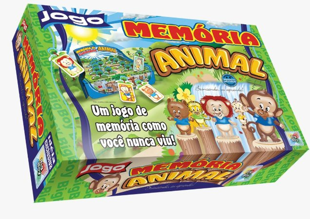 Jogo Educativo Infantil Memoria Animal Big Boy