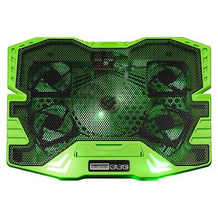 Cooler Gamer P/ Notebook Warrior Zelda  Led Verde Multilaser
