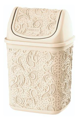 Cesto De Lixo Para Pia Floral Palha P 4,5 Litros Uninjet