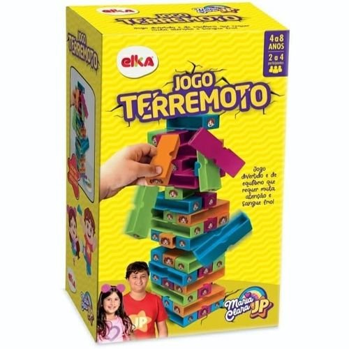 Jogo Brinquedo Infantil Terremoto Maria Clara e JP 1159 Elka