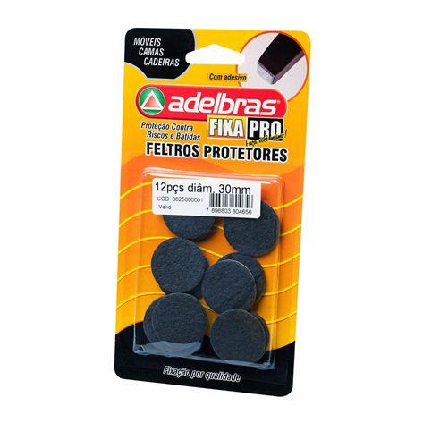 Adesivos Protetores Feltro Prático Redondo 30mm Adelbras