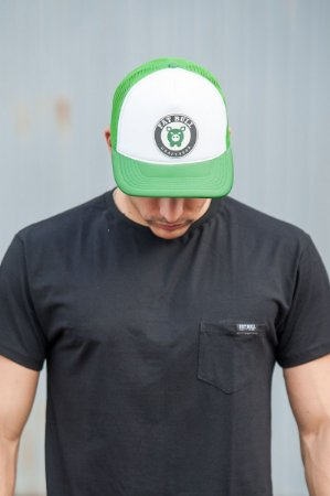 Boné Trucker Fat Bull Bordado Verde e Branco - Produtos oficiais da ... 14d2877f528