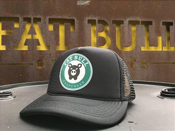 Boné Fat Bull Trucker Preto e Verde - Produtos oficiais da ... 0fc1e14d0ba