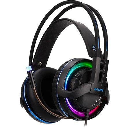 Headset Sades Diablo Sa-916 Gamer Usb Realtek Audio