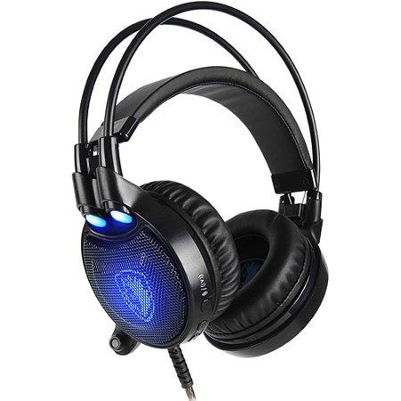 Sades Headset Octopus Plus USB com Potente Função Vibração