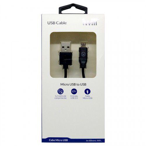 Cabo Micro USB - 1,2 metro