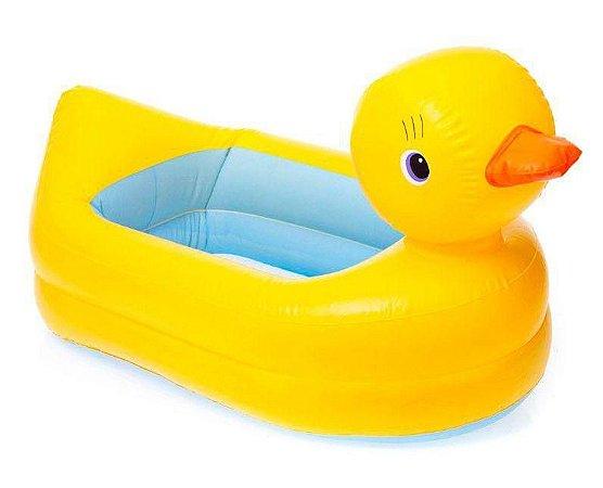 Banheira Inflável para Bebê Pato Amarelo Love