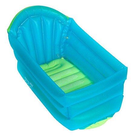 Banheira Inflável para Bebê Verde e Azul Love