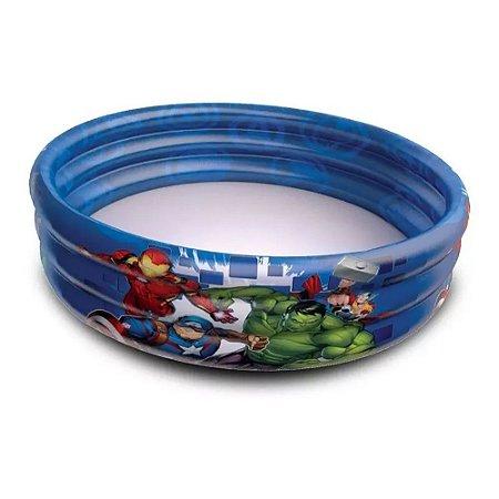 Piscina Infantil Inflável Avengers Vingadores 115l Etitoys