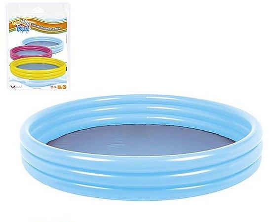 Piscina Inflável 3 Anéis Wellmix Azul 400l Azul