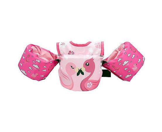 Colete Salva Vidas Flutuador Infantil Homologado Flamingo