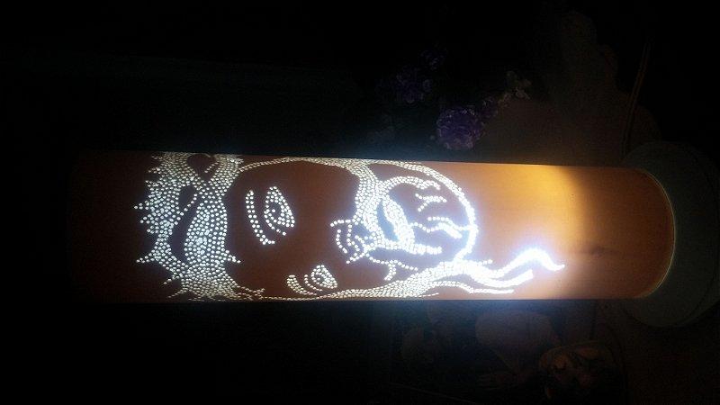 Luminária em PVC - Cristo