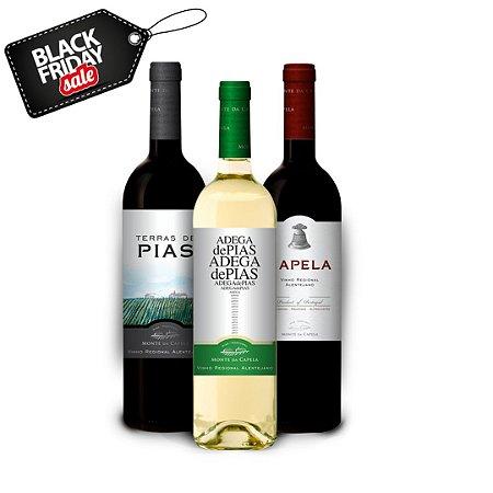 Kit Black Friday com três vinhos - Monte da Capela
