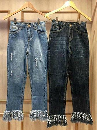 Calça Jeans Skinny Franjas