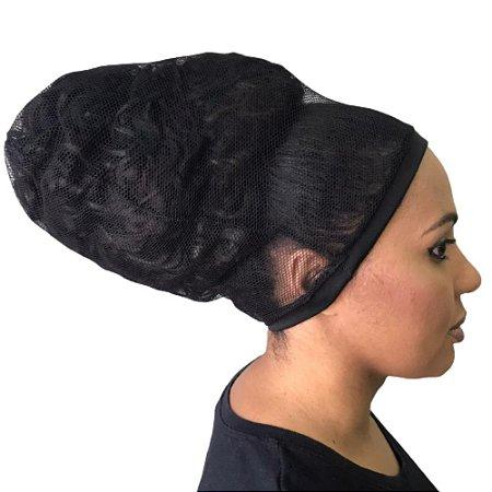 Touca de Tela para Cabelos Afro e Volumosos - pacote com 5 unidades
