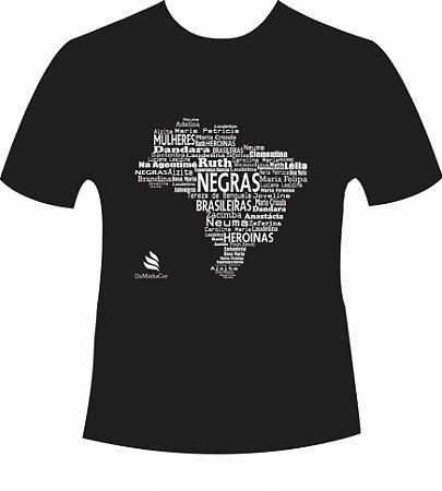 Camiseta Afro DaMinhaCor - Heroínas Negras Brasileiras