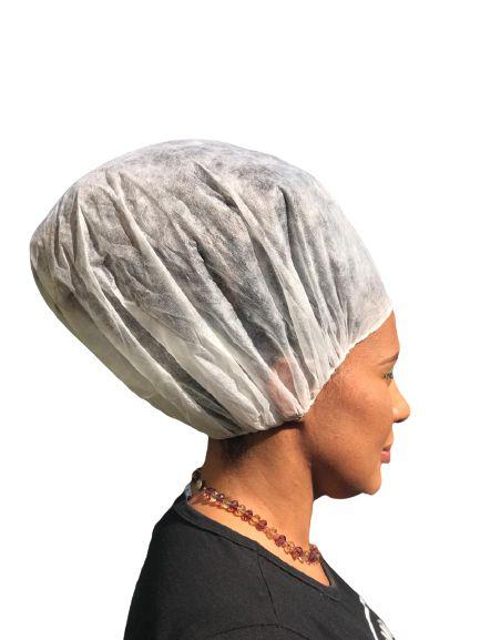 Touca Descartável de TNT para Cabelos Afro e Volumosos