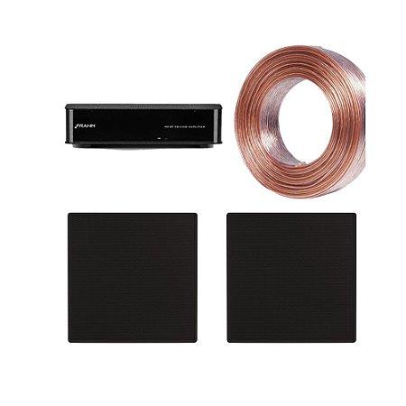 Kit RD BT CEILING Frahm + 02 Arandelas Frahm 6″ Quadradas CX 50W Pretas + Brinde