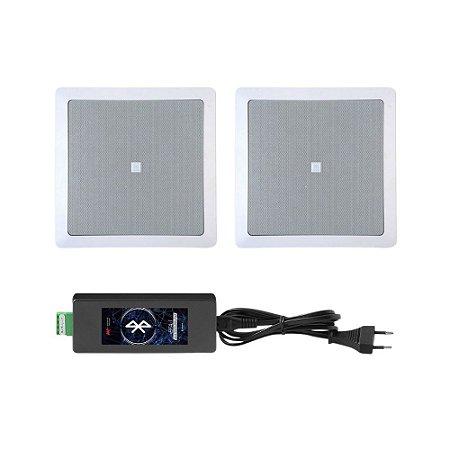 Kit Invisível Bluetooth AAT - Amplificador BTA-1 V4.0 + 2 Arandelas 6co1q JBL