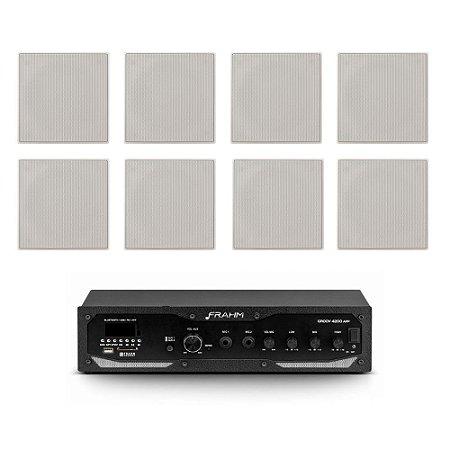 Kit Amplificador Frahm GR 4200 APP + 8 Arandelas JBL CI6S