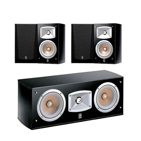 Kit 5.0 Caixas Acústicas Yamaha - 01 NS-C444 Central + 04 NS-333 Bookshelf