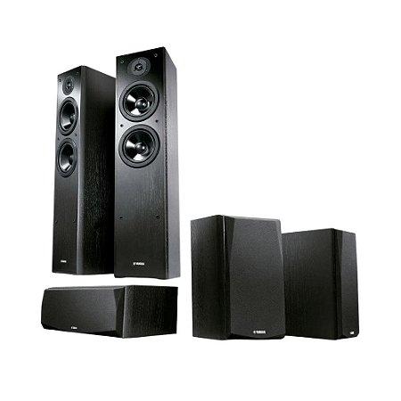 Kit 5.0 Caixas Acústicas Yamaha NS-P51 - 1 Central + 2 Surrounds + 2 Torres NS-F51