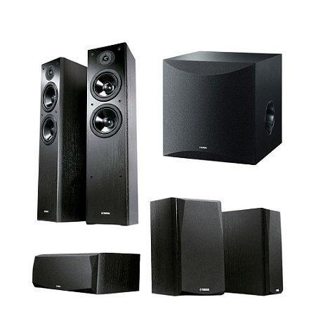 Kit 5.1 Caixas Acústicas Yamaha NS-P51 - 1 Central + 2 Surrounds + 2 Torres NS-F51 + 1 Subwoofer Ns-Sw050