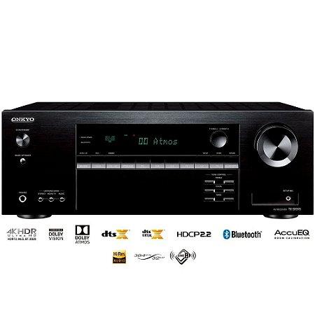 Receiver Onkyo TX-SR393 5.2 Dolby Atmos Bluetooth Zona B 110V