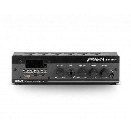Amplificador Frahm Slim 1000 APP G2 Bluetooth USB SD FM