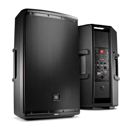 Caixa de Som Acústica JBL EON615 Ativa 1000W Preta