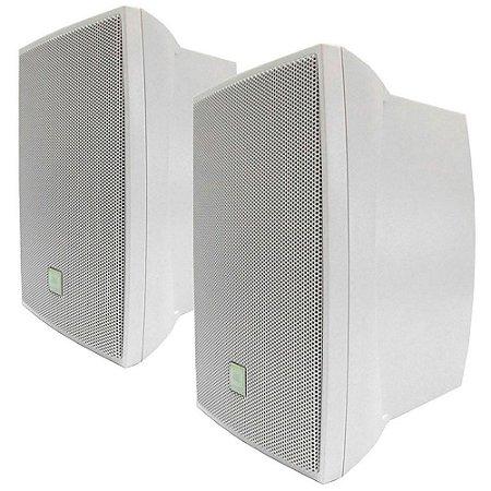 Caixa de Som Acústica JBL C521B Passiva 80W Rms Branca Par