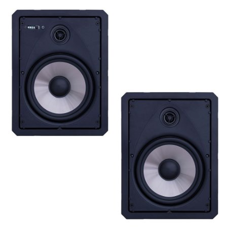 "Kit Arandela Loud 6"" Retangular LR6 BT-A BL Ativa + Passiva"
