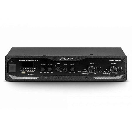 Amplificador Frahm Profissional GR 5500 APP Bluetooth USB SD FM
