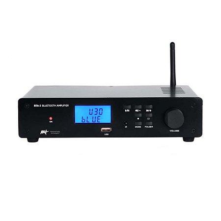 Amplificador Estéreo AAT BTA-2 Bluetooth USB FM