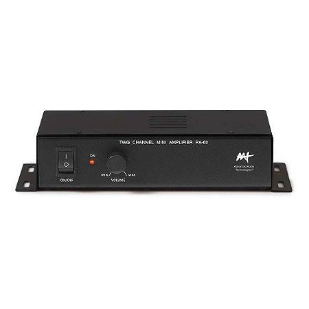 Amplificador AAT PA-60 - 2 canais 60W RMS para Zona 2