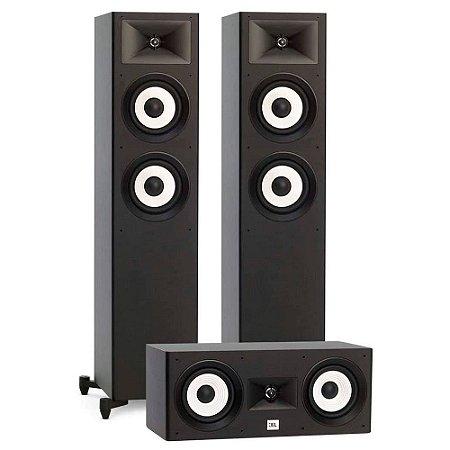 Kit de Caixas Acústicas 3.0 JBL Para Home Theater - 2 Stage A180 Torres + 1 Stage A125C Central