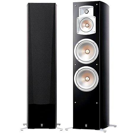 Caixa Acústica Yamaha NS-777 Torre 3-Vias, 4-Falantes Bass-Reflex Preta Par