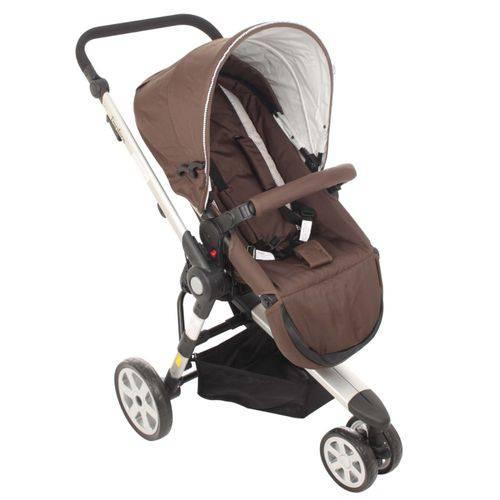 Carrinho De Bebê 3 Rodas Liberty Marron - Dardara