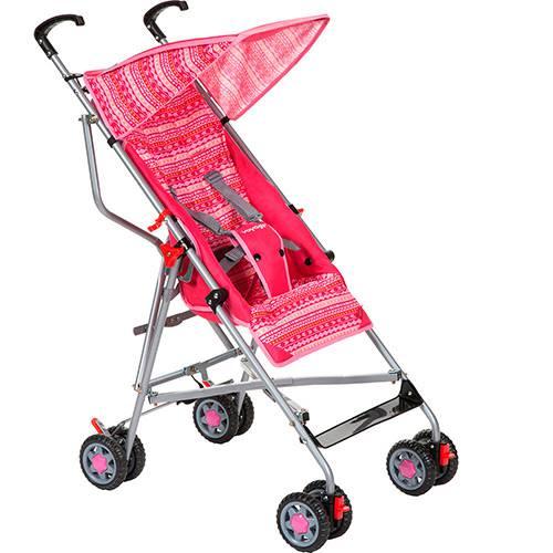 Carrinho de Bebê Passeio Voyage Umbrella Slim Rosa - 2 Posições