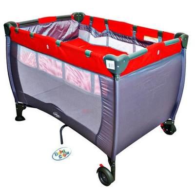 Berço Cercado desmotável - Compacto - Vermelho  - Baby Style